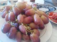 Свэжий РИЗАМАТ красный Виноград из Узбекистана